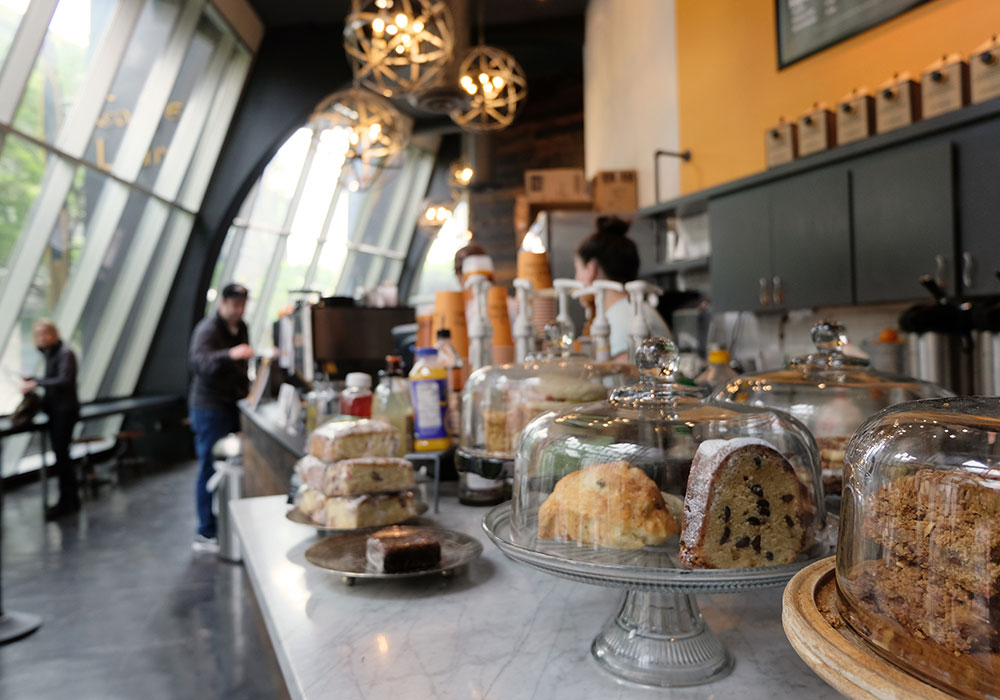 Photograph of pastries in a Seattle coffee shop